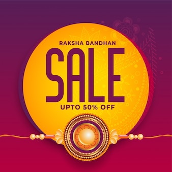 Raksha bandhan. projekt bannera sprzedaży rakhi