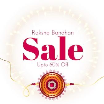 Raksha bandhan sprzedaż tło z rakhi design