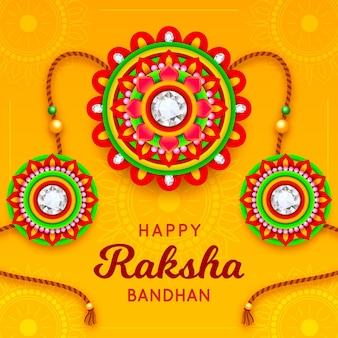 Raksha bandhan z kolorową dekoracją