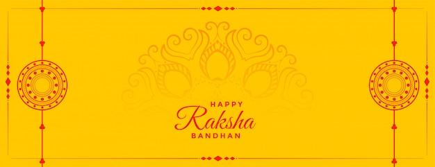 Raksha bandhan żółty sztandar