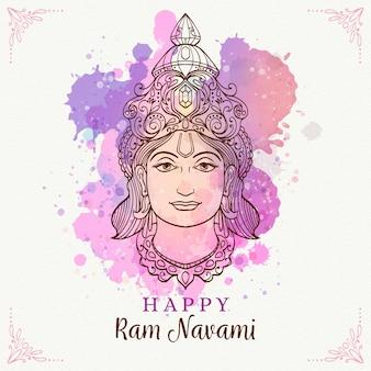 Ram navami z akwarelami