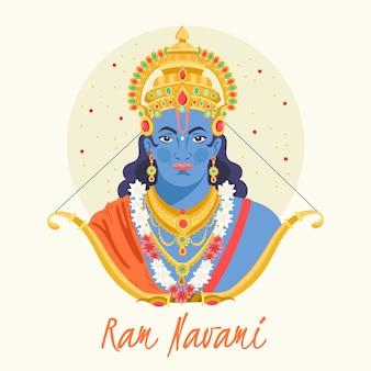 Ram navami z ręcznie rysowane projekt
