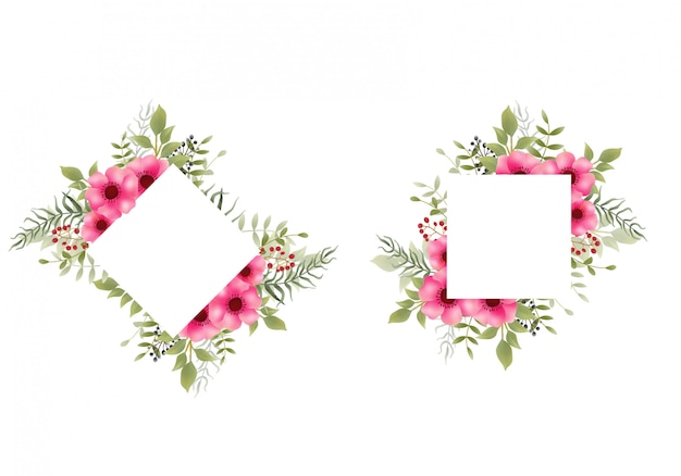 Rama akwarela kwiat