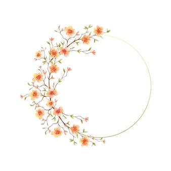 Rama akwarela wiosenne kwiaty