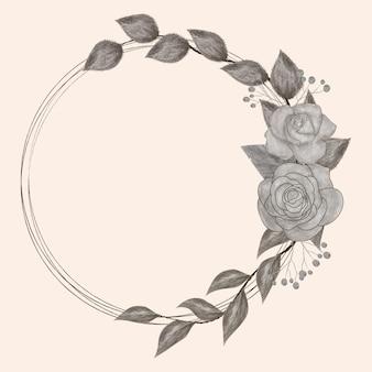 Rama czarny kwiat