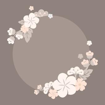 Rama japońskie kwiaty pastelowe