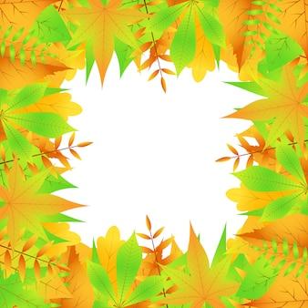 Rama jesiennych liści