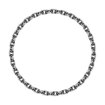 Rama łańcucha. symbol niewolnictwa i walki o wolność.