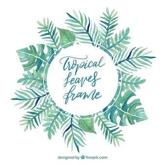 Rama liści z roślin tropikalnych