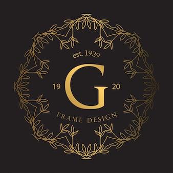 Rama luksusowa ze złotym kolorem