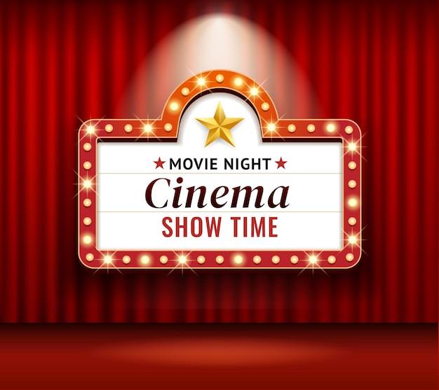 Rama retro kina lub teatru