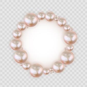 Rama streszczenie koło pastelowe różowe perły