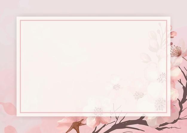 Rama tło wiśniowy kwiat