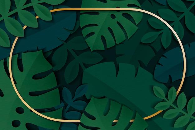 Rama tropikalnych liści
