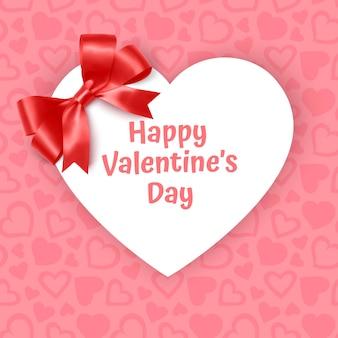 Rama w kształcie serca na świątecznym różowym tle wzór z sercami na różowym pastelowym tle