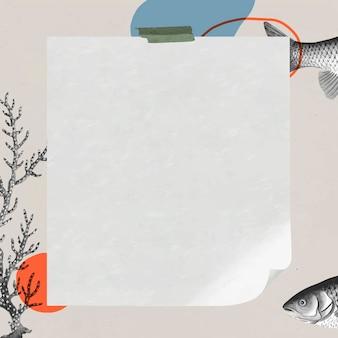 Rama w stylu vintage z kwadratową rybą!