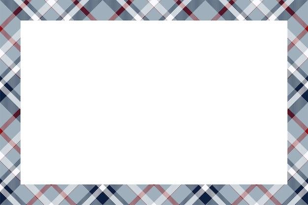 Rama wektor wzór. szkocka granica wzór w stylu retro. ozdoba w kratę w szkocką kratę.