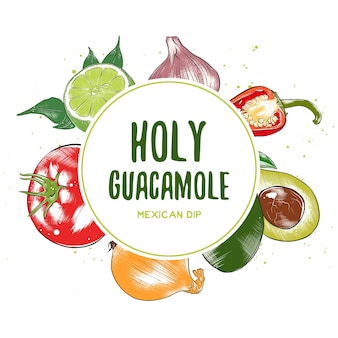Rama widok z góry dania kuchni meksykańskiej. wygląd menu żywności