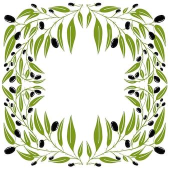 Rama wieńca z oliwek