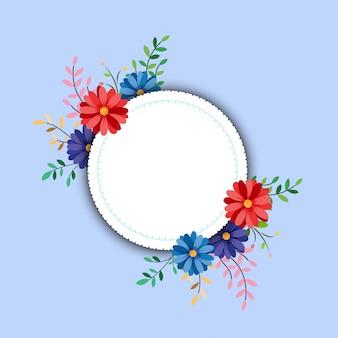 Rama wiosna z kwiatami