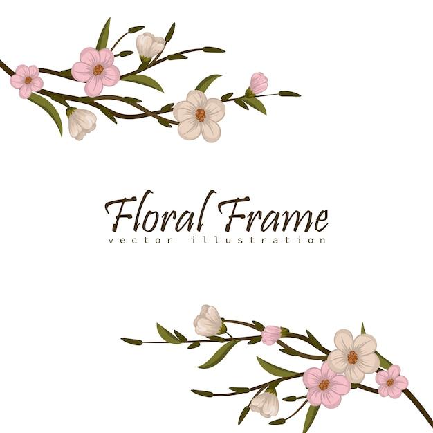 Rama z kwiatami