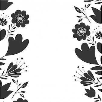 Rama z kwiatów i liści ikona