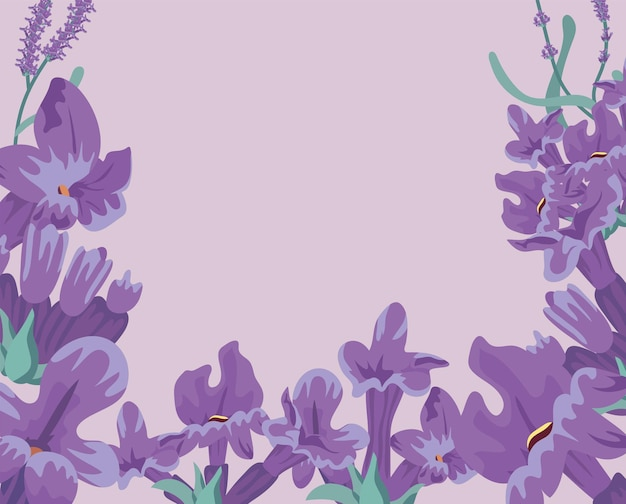 Rama z kwiatów lawendy