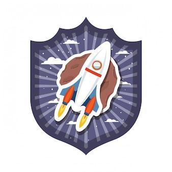 Rama z lataniem rakiet i planety układu słonecznego