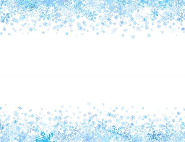 Rama z małymi płatkami śniegu