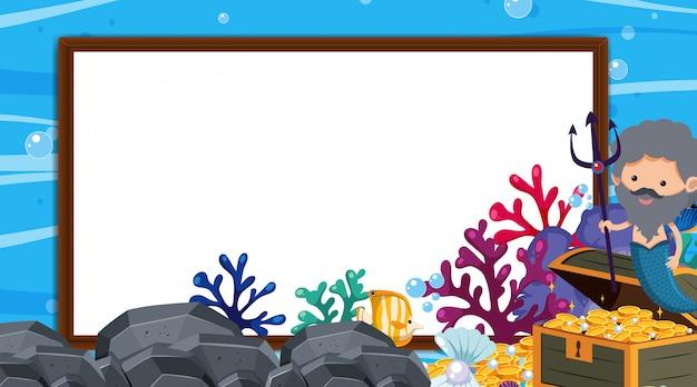 Rama z podwodną sceną w tle