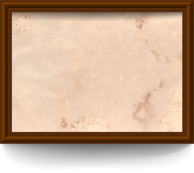 Rama z postarzanym papierem