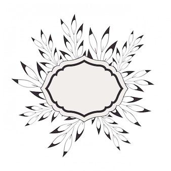 Rama z roślin i zioła na białym tle ikona