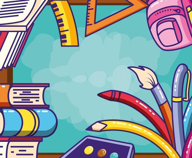 Rama z zestawem materiałów edukacyjnych