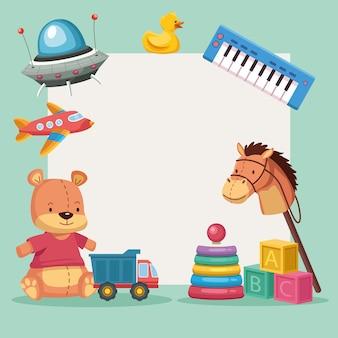 Rama zabawek dla dzieci