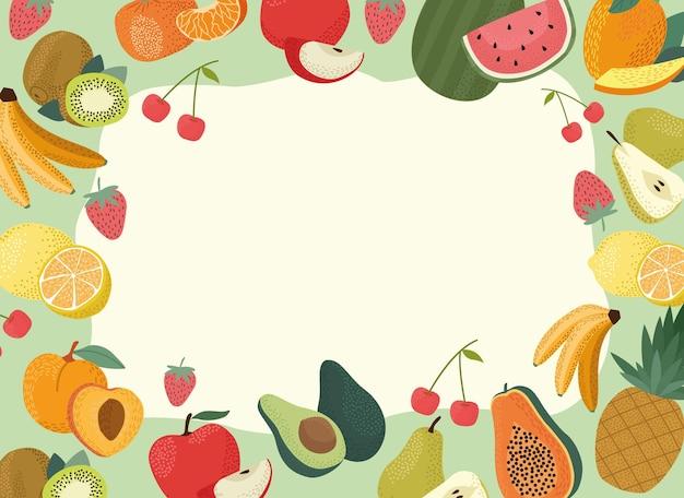 Rama ze świeżych owoców