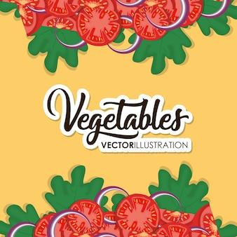 Rama ze zdrowymi warzywami