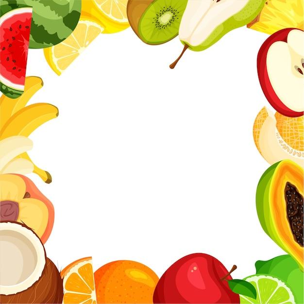 Rama zestawu owoców