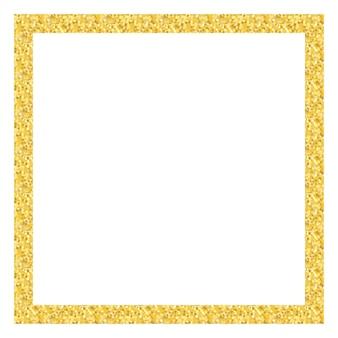 Rama złoty kwadratowy brokat. ilustracja wektorowa eps10
