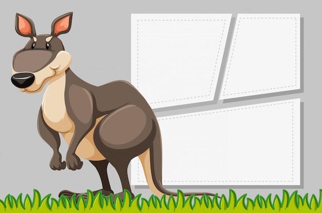 Rama zwierząt z pustym szablonem plakatu