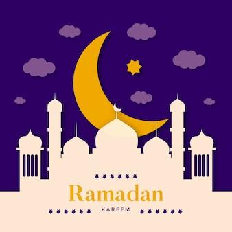 Ramada z księżycem i pałacem