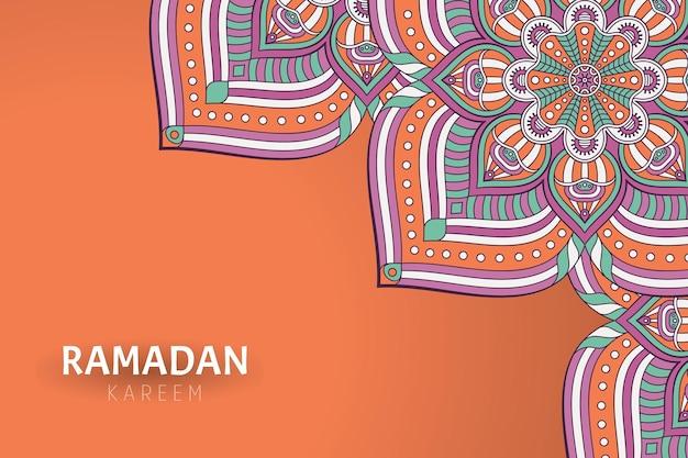 Ramadam kareem tło z ornamentami mandali