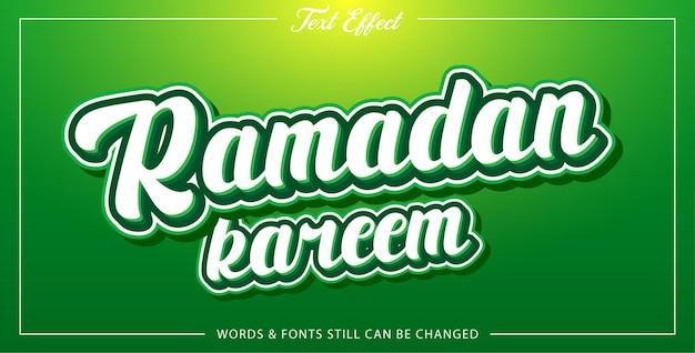 Ramadan edytowalny efekt tekstowy