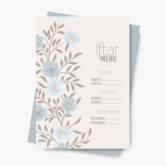 Ramadan eid iftar party menu żywności.