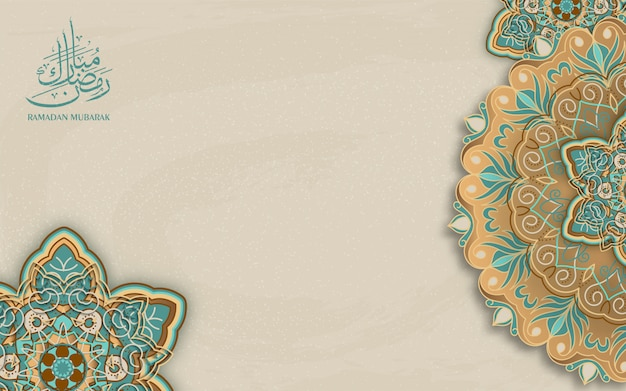Ramadan kareem arabska kaligrafia, ramadan kareem piękne tło