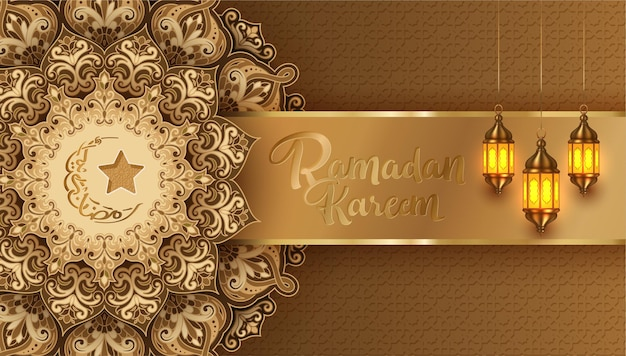 Ramadan kareem arabska kaligrafia transparent projekt