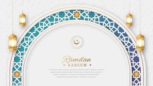 Ramadan kareem arabski elegancki luksus