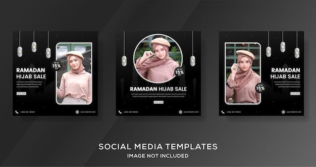 Ramadan kareem banner na post szablonu sprzedaży mody