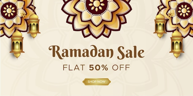 Ramadan kareem banner sprzedaży w