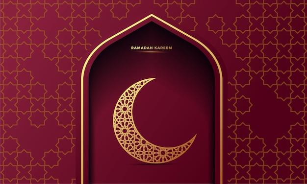 Ramadan kareem banner z życzeniami