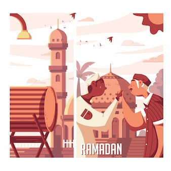 Ramadan kareem bedug illustration